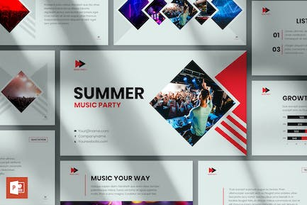 Music Party PowerPoint Presentation Template