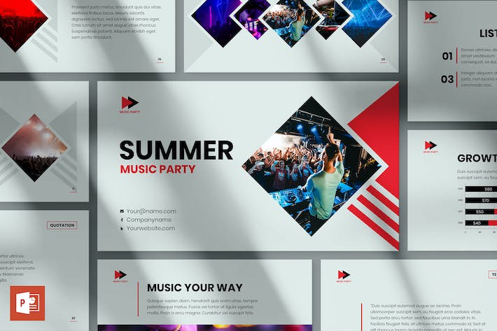 Thumbnail for Music Party PowerPoint Presentation Template