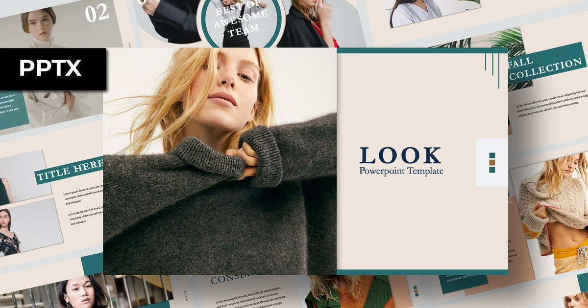 Download Look Presentation Template by templatehere