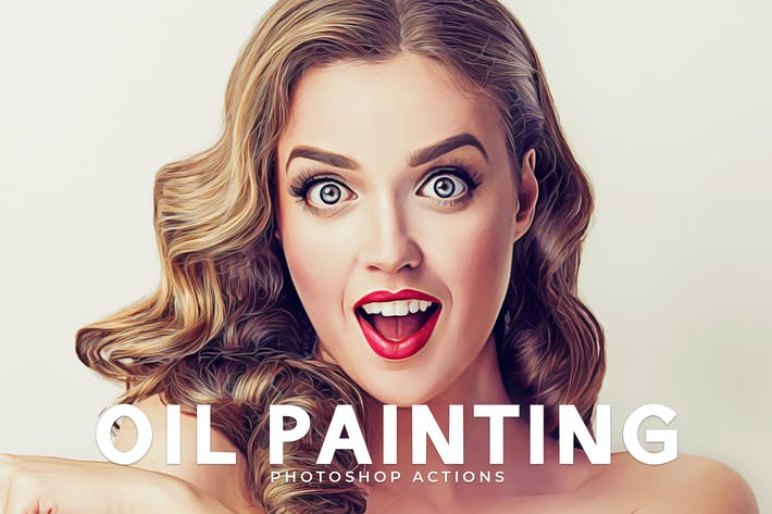 Thumbnail for Oil Painting Photoshop Actions