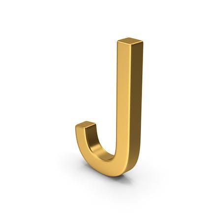 J Letter Gold