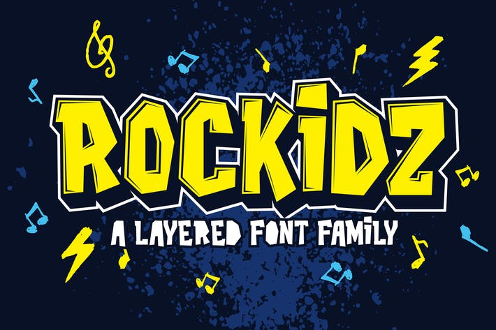 Thumbnail for Rockidz - Layered Font