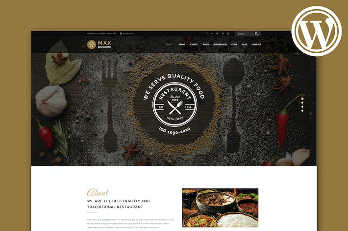 Thumbnail for Restaurant - Responsive WordPress Theme