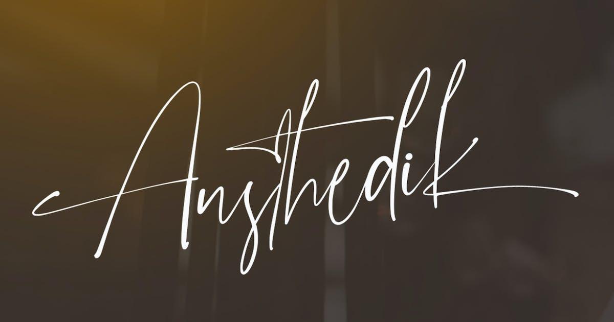 Download Austhedik Elegant Font by vultype