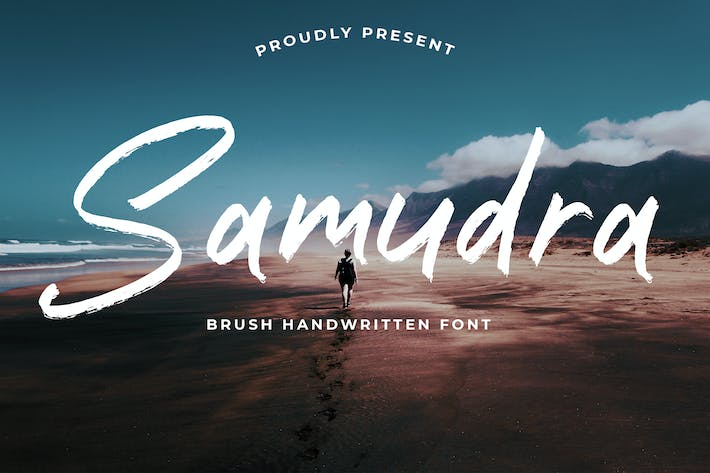 Cover Image For Samudra Brush Handwritten font