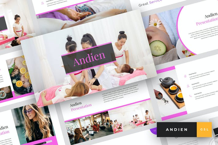 Thumbnail for Andien - Spa & Beauty Google Slides Template