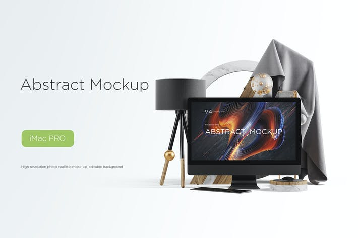 Cover Image For Abstract Mockup iMac Pro Max vol.04