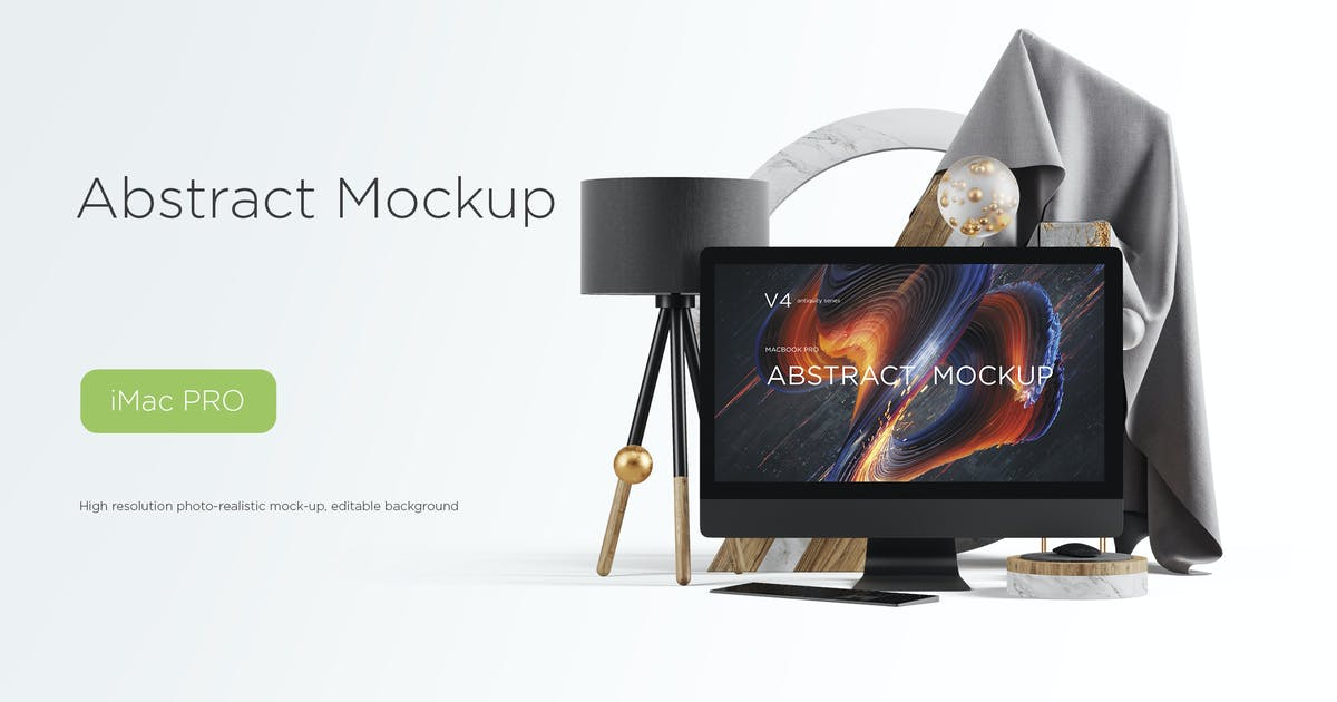 Download Abstract Mockup iMac Pro Max vol.04 by TIT0