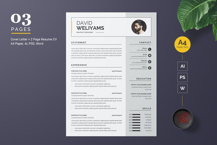 Thumbnail for Professional and Clean Resume Template