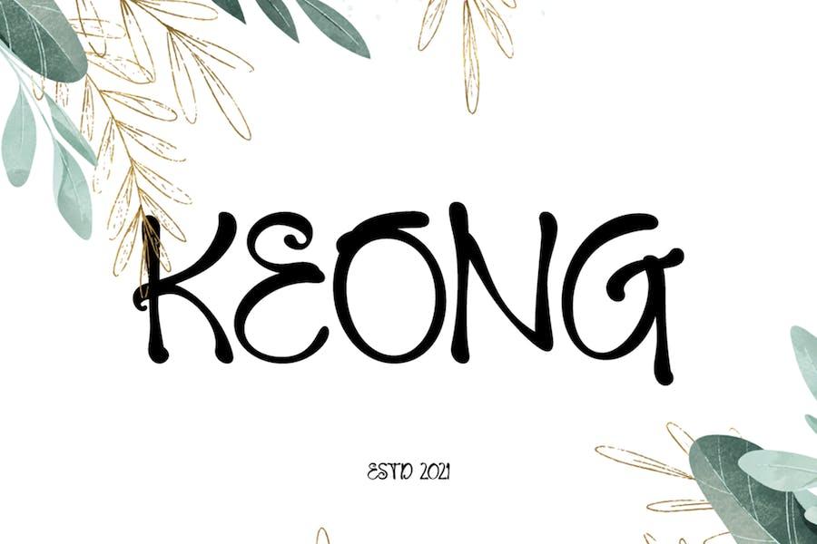 Keong Fancy Font