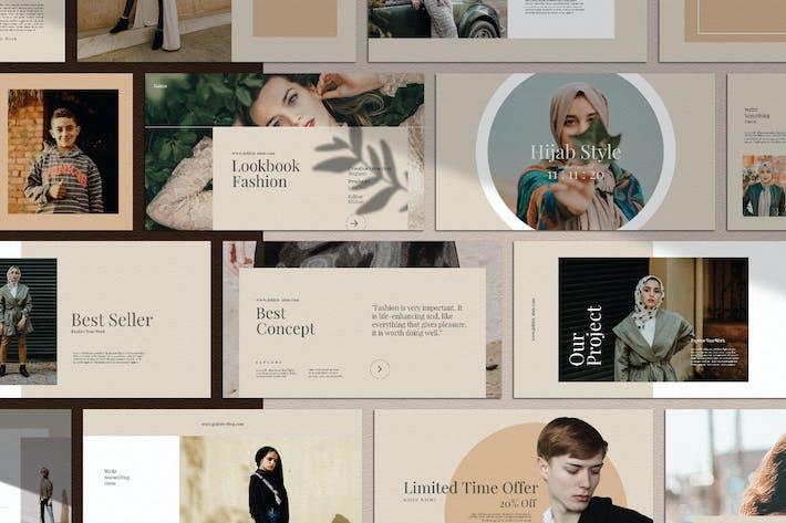 Thumbnail for Золотая мода | Шаблоны PowerPoint