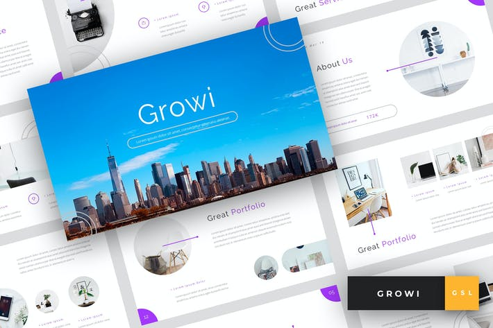 Thumbnail for Growi - Business Google Slides Template