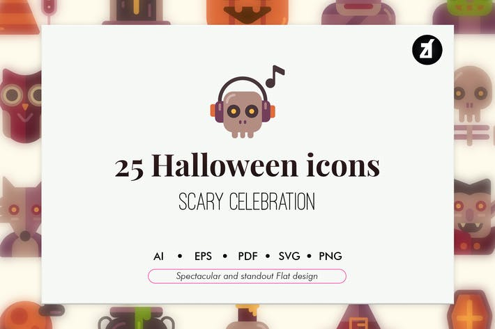 Thumbnail for 25 Halloween elements