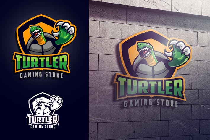 Thumbnail for Turtle Mascot Esports or Sports Logo