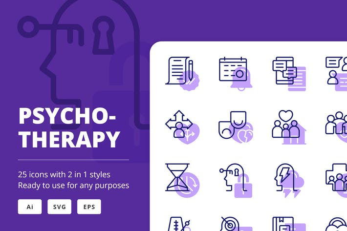 PsychotherapieIcons (Linie und Solid)