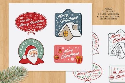 Christmas Vintage Label