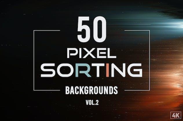 50 Pixel Sorting Backgrounds - Vol. 2
