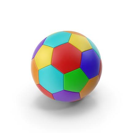Balón de fútbol multicolor