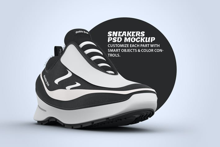 Thumbnail for Sneaker Diagonal View PSD Mock-up