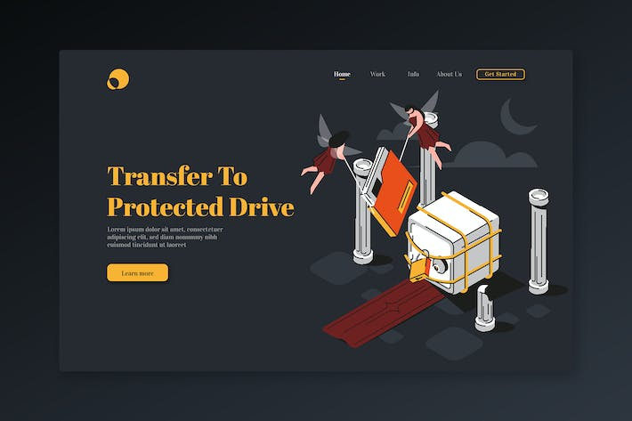 Thumbnail for Protected Drive - Isometric Landing Page