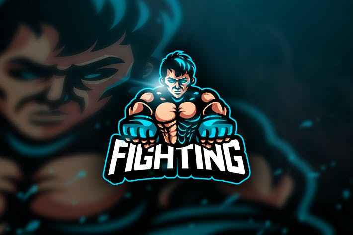 Thumbnail for UFC Fighting - Mascot & Esport Logo