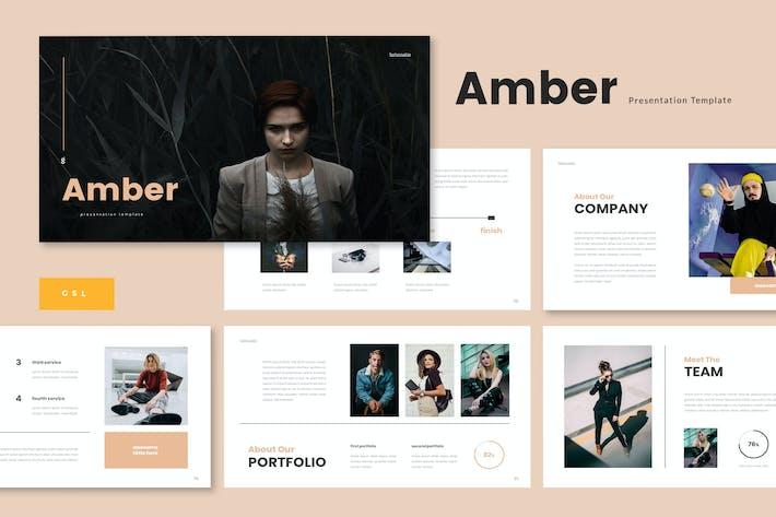 Thumbnail for Amber - Business Google Slide Template