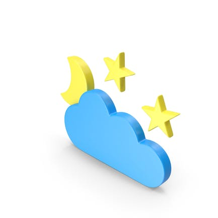 Meteorology Symbol Partly Cloudy Night