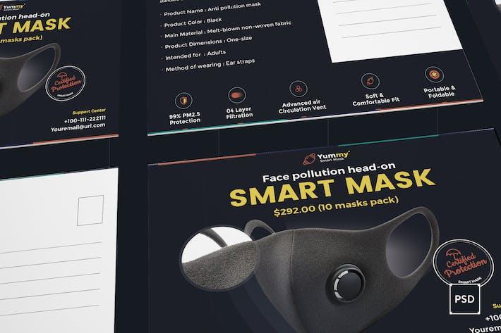 Masque Anti-Pollution Carte Postale Modèle PSD
