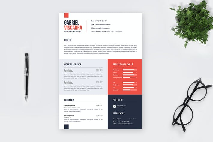 Cover Image For Minimalist CV Resume Template