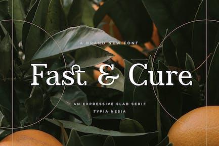 Fast and Cure - Con serifa de losa expresiva moderna