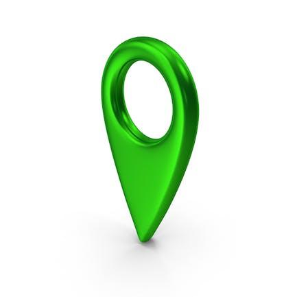 Штырь карты Зеленый металлик