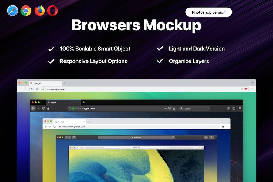 Responsive Web Browser Mockup Vol-2