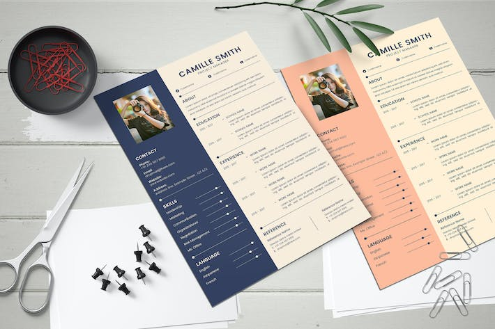 Thumbnail for Creative Resume CV Template