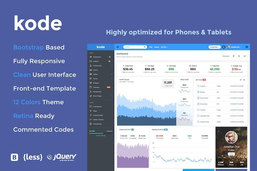 Kode - Responsive Admin Dashboard Template