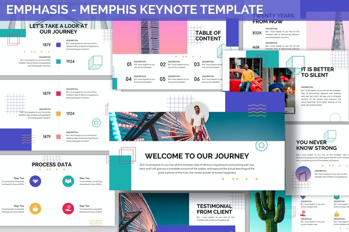 Emphasis - Memphis Keynote Template