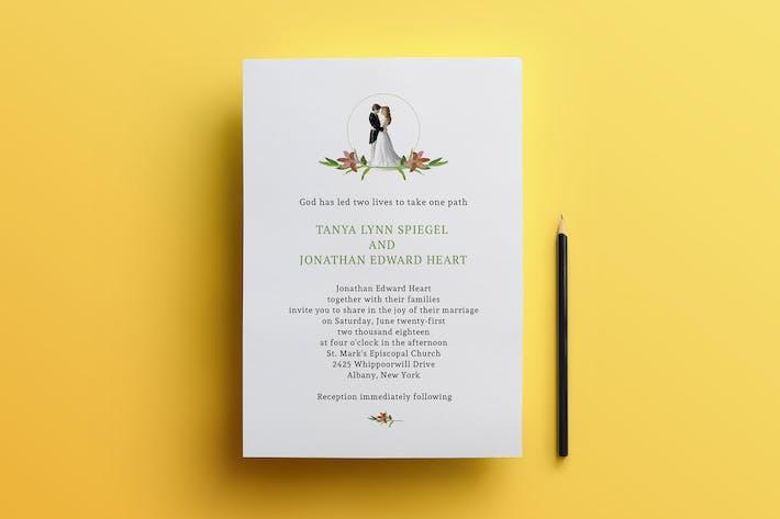 Thumbnail for Christian wedding invitation card