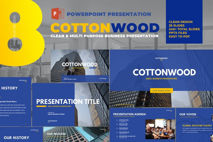 Cover Image For CottonWood - Company Profile Powerpoint