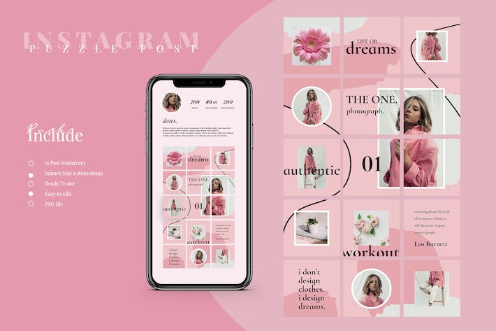 Thumbnail for Instagram Puzzle Post Template