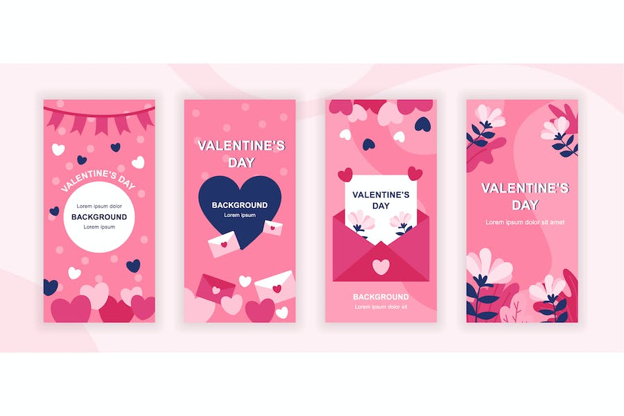 Valentines Day Instagram Stories Social Template