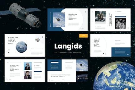 Langids - Space Google Slides Template