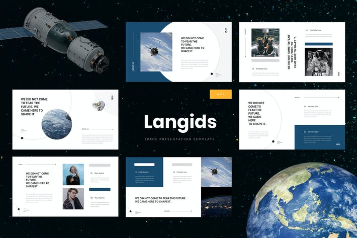 Thumbnail for Langids - Space Google Slides Template