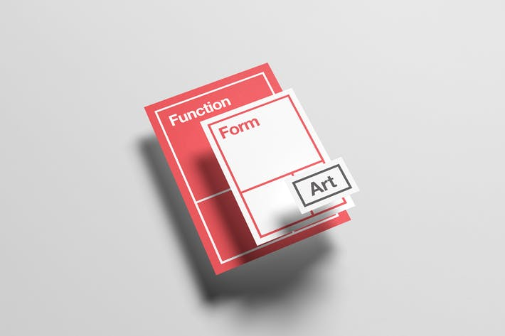 Cover Image For Floating Stationery Mock-Up