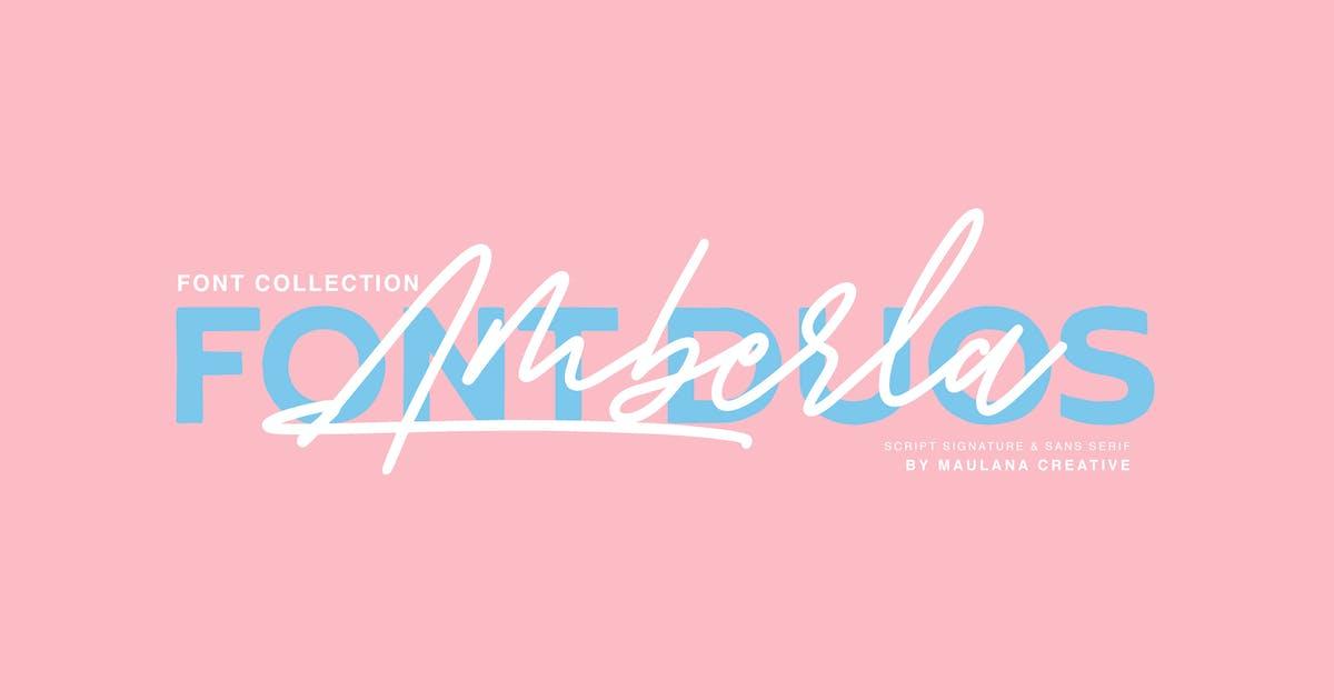 Download Amberla Script Sans Font by maulanacreative