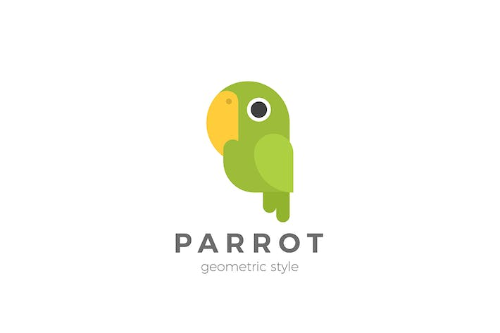 Thumbnail for Parrot Logo Geometric Design Style