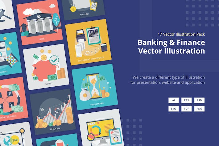 Banking and Finance Vector Illustration