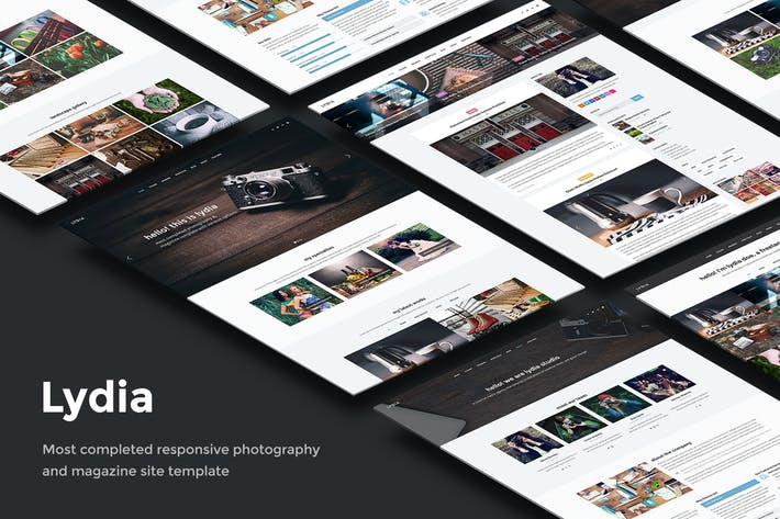 Thumbnail for Lydia - Photography & Magazine Site Template