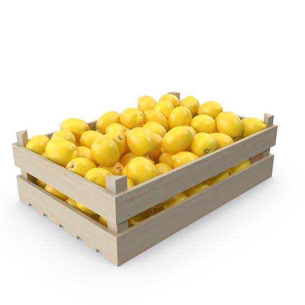Obstkiste mit Zitronen
