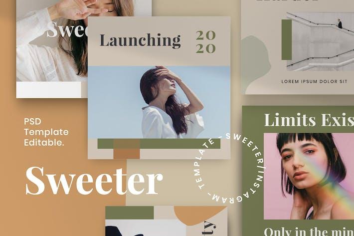 Thumbnail for Sweeter Vol 2 - Instagram Story & Post Kit