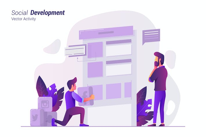 Thumbnail for Social Development - Vector Illustration