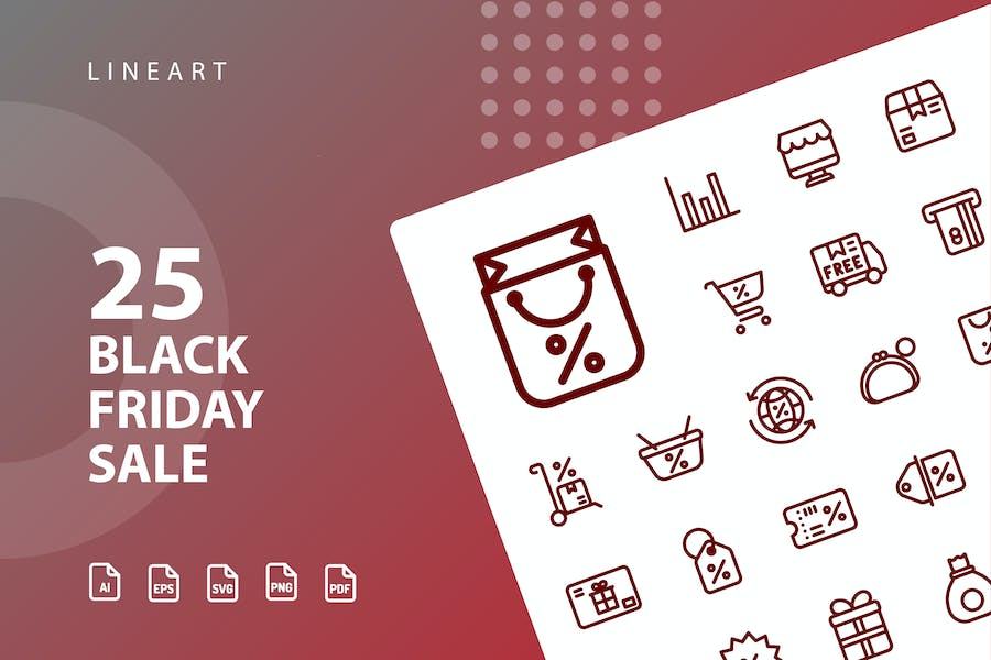 Black Friday Sale Lineart